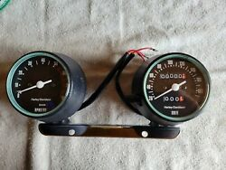 Harley-davidson Speedometer And Tachometer Part 92069-81a