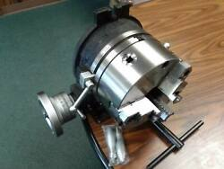 10 Horizontal And Vertical Rotary Table W. 10 3 Jaw Chuck Front Mounting