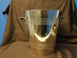 Very Large Ice Bucket Art Deco French, Stylish, Silver Plate Circa 1930,