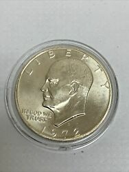 1972 S Eisenhower Dollar Uncirculated Ike 1 Us 40 Silver Coin
