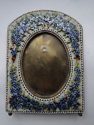 Antique Micro Mosaic Picture Frame Circa 1870, Small Size, Victorian And Beautiful