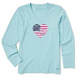 Life Is Good Womenand039s Crusher Graphic Long Sleeve T - Choose Sz/color