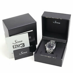 Sinn Automatic Menand039s Watch 603 Ezm3 Automatic Black Dial Ss Breath Date Boxed