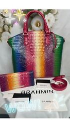 Brahmin Confection Large Duxbury Bag/matching Ady Wallet Limited Ed. Sold Out🌈