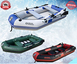 Inflatable Pvc Rubber Fishing Boat Laminated Wear-resistant 3-4 Person Kayak New