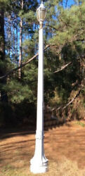 """Antique Cast Iron Street Lamp Post Or Pole With Globe 11"""" Tall Without Globe"""