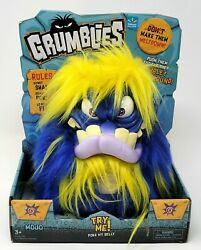 Pomsies Grumblies Mojo Blue Plush Interactive Monster Toy Kids Doll