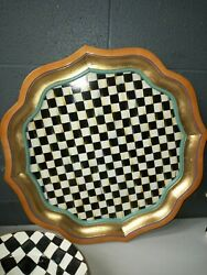 Mackenzie-childs Courtly Check Drink Serving Tray Collectible