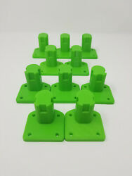 10 Pack Tool Holder Wall Mount Made For Ryobi One 3d Printed Green