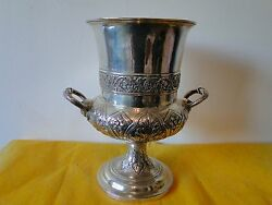 Wine Cooler Sterling Silver, London 1828, Georgian, Fully Marked, Grape And Vine,