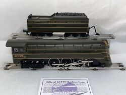 Mth Premier 20-3034-1 Chicago Andnw 4-6-4 E-4 Ps1 Production Sample O Gauge C.o.a.