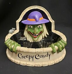 Morgue Sale Halloween Department 56 Witch Fountain Candy Dish Retired 2006 Mint