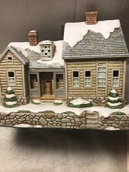 Lefton Fellowship Place 2000 Colonial Christmas Village 754/3000 W/ Everything