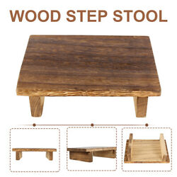 Wooden Square Small Stool Footstool Step Stool Home Children Seat Vintage Chair