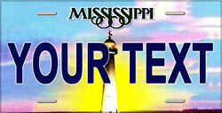 Mississippi Personalized License Plate Novelty Automobile Accessory 12 X 6