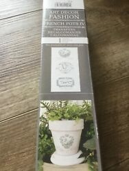 Iron Orchid Designs Transfer French Pots IV