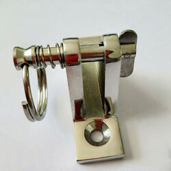 Stainless Steel Deck Hinge Mount W/ Quick Release Pin And Pull Ring For Bimini Top