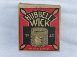Antique Hubbell Oil Cook Stove Wick No.331