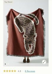 Anthropologie Spotty Throw Blanket Animal Print Sold Out 5 Stars Review