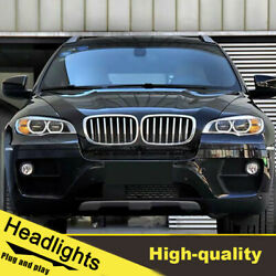 08-14 Led Turn Signal Dynamic Headlights Assembly For Bmw X6 E71 One Set.