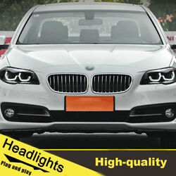 11-17 Led Turn Signal Dynamic Headlights Assembly For Bmw 5series F18 One Set.