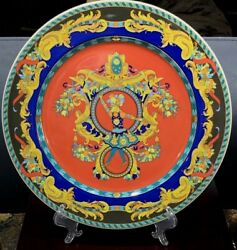 Rare Discontinued Le Roi Soleil Sun King Lovely Versace Charger Plate Rosenthal