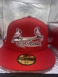 7 1/2 St. Louis Cardinals Red 2006 World Series Pink Bottom Fitted Hat