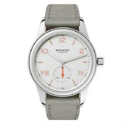 Nomos Nomos Glass Hutte Club Campus White Cl1a1w2cp Silver Gray Hand-winding