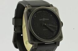 Bell And Ross Br03-92 Automatic Men's Watch Black Vintage Nice Condition 1 21/32in