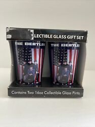 The Beatles Collectible Glass Gift Set 2 16oz Glass Pints The First U.s. Visit
