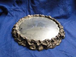 Silver Plated Wedding Cake Stand Antique Victorian 1860 Domed Mirror Marked