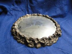 Silver Plated Wedding Cake Stand, Antique Victorian 1860, Domed Mirror Marked,