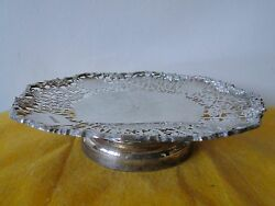 Sterling Silver Pierced Grape And Vine Sweets Dish, Fully Marked Sheffield 1939