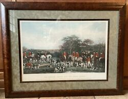 Vintage Fox Hunt Engraving Frederick Bromley Richard Sutton And The Quorn Hounds