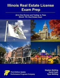 Illinois Real Estate License Exam Prep All-in-one Review And Testing To Pa...