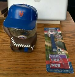 Pair Of New York Mets Souvenirs Pez Candy And Dispenser Gumballl Machine