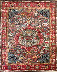 Hand-knotted Rug Carpet 8and039x10and039 Choeb Rang Mint Condition