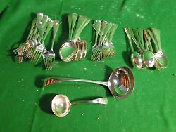 Silver Plated Flatware Antique English Old English Marked And Great Quality 1880