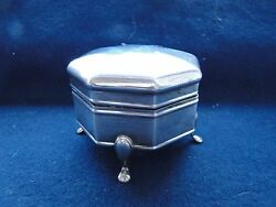 Box On 4 Feet Sterling Silver Italy 1940 Octagonal Good Quality And Shape