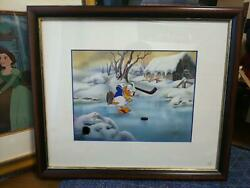 Disney Cell Paintings 1939 Donald Short Hockey Champ World Limited 500
