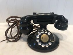 Vintage Western Electric 202 Rotary Dial Telephone W/ E-1 Handset