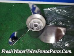 Volvo Penta F7 Stainless Steel Rear Propeller Reconditioned P/n 3851477.
