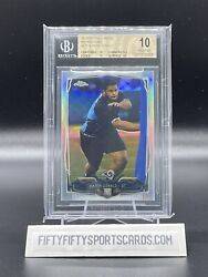 2014 Aaron Donald Topps Chrome Silver Refractor Rc 175 Bgs 10 Pristine