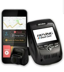 Rexing V1p Pro Dual 1080p Full Hd Front And Rear 170anddeg Wide Angle Wi-fi Car Dash