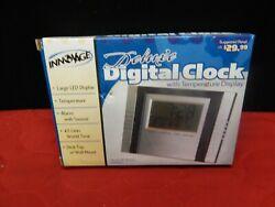 INNOVAGE Deluxe digital alarm clock thermometer temperature display LED world
