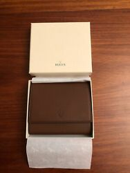 Rolex Brown Leather Travel Case Pouch For 1 Watch And 1 Accessory