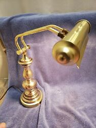 Vintage Brass Table/library/bankers/piano/desk Lamp Adjustable Working