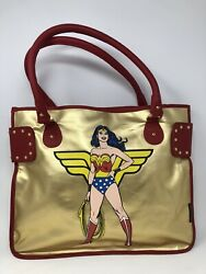 Dolce And Gabbana Wonder Woman Red Leather / Gold Shoulder Bag - Very Rare