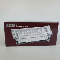 Hershey Milk Chocolate Glass Dish With Lid Shannon Crystal Brand New