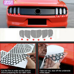 Accessories Rear Tail Light Honeycomb Stickers Decals For Ford Mustang 2015-2017